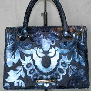 BRAHMIN SMALL CAMILLE BLUE SHERGIN LEATHER